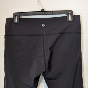 LULULEMON Capri Wunder Under Pants Black 10